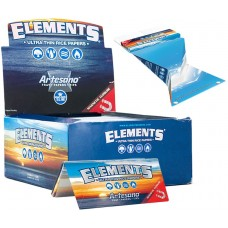 Elements Artesano King Size Slim Rolling Papers with Tips and Tray