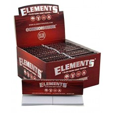 Elements - Red Connoisseur King Size Slim Papers with Tips