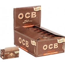 OCB Virgin Unbleached Slim Rolls