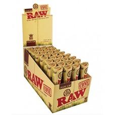 RAW Organic Hemp Pre-Rolled Cone King Size - 3pk