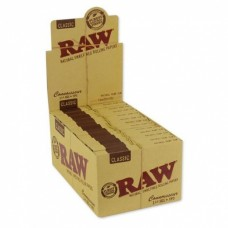 RAW Classic Connoisseur 1¼ Size Rolling Papers with Tips