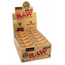 RAW Classic King Size 5m Rolls 24 per Box