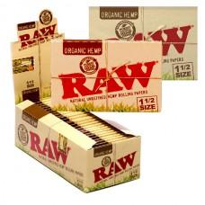RAW Organic Hemp 1½ Size Rolling Papers