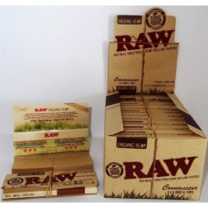 RAW Organic Hemp Connoisseur 1¼ Size Rolling Papers with Tips