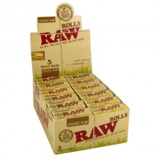 Raw Organic Hemp Rolls 5m Slim